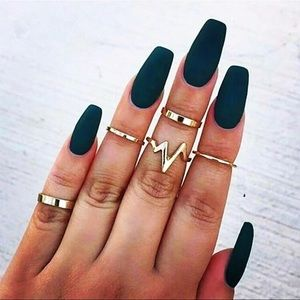 Jewelry - Gold&Silver 5pc set midi rings 1 silvr left 3gold